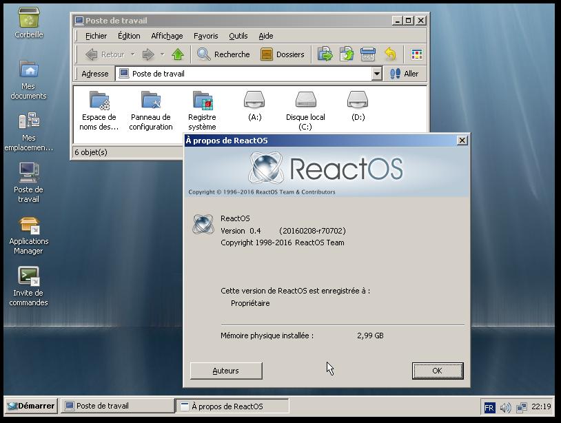 ReactOS 0 4 0 - LinuxFr org